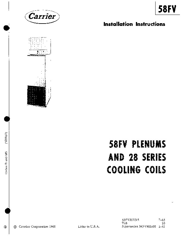 Carrier 58FV501015 Gas Furnace Owners Manual