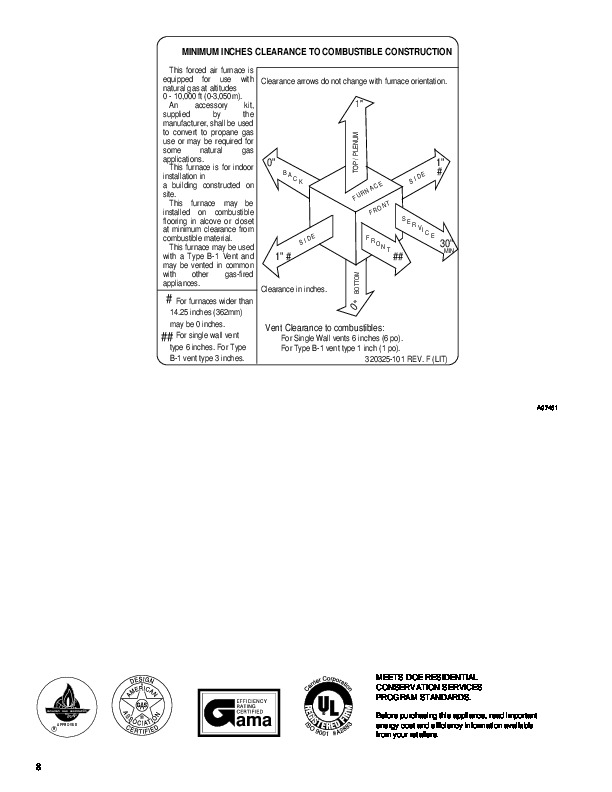 Carrier 58TUA 7PD Gas Furnace Owners Manual