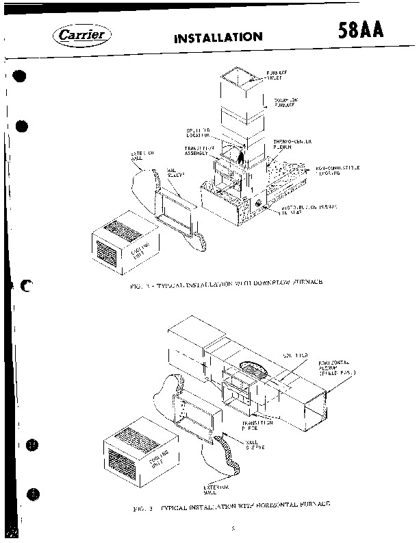 Carrier 58AA 501405 Gas Furnace Owners Manual