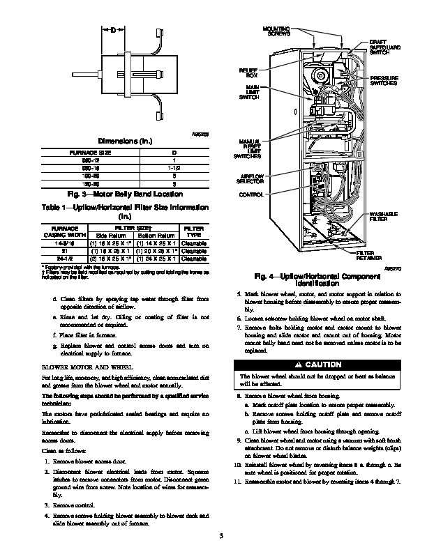 Carrier 58D 58U 3SM Gas Furnace Owners Manual