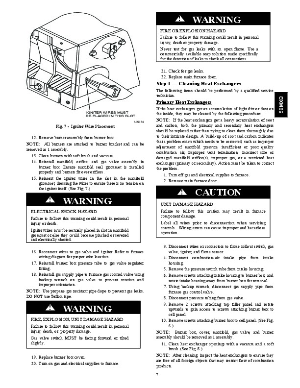 Carrier 58MXB 3SM Gas Furnace Owners Manual