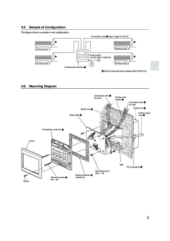 Mitsubishi MAC 821SC E Remote Controller Air Conditioner