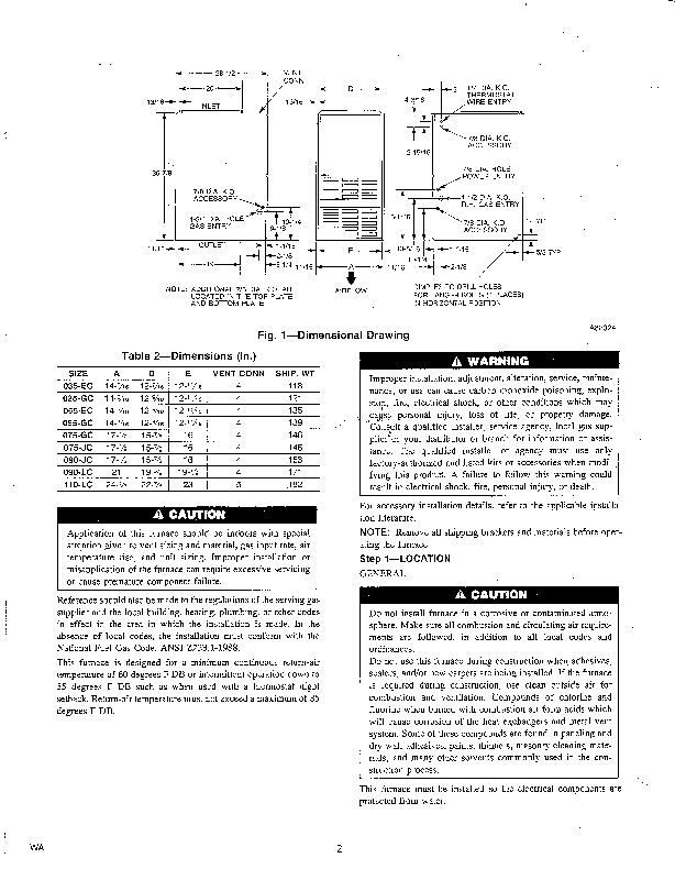 Carrier 58RA 3SI Gas Furnace Owners Manual