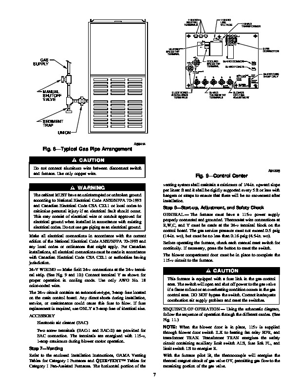 Carrier 58DF 9SI Gas Furnace Owners Manual
