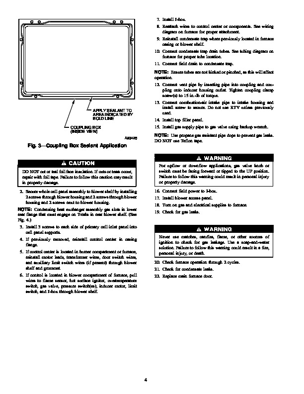 Carrier 58M 95SI Gas Furnace Owners Manual