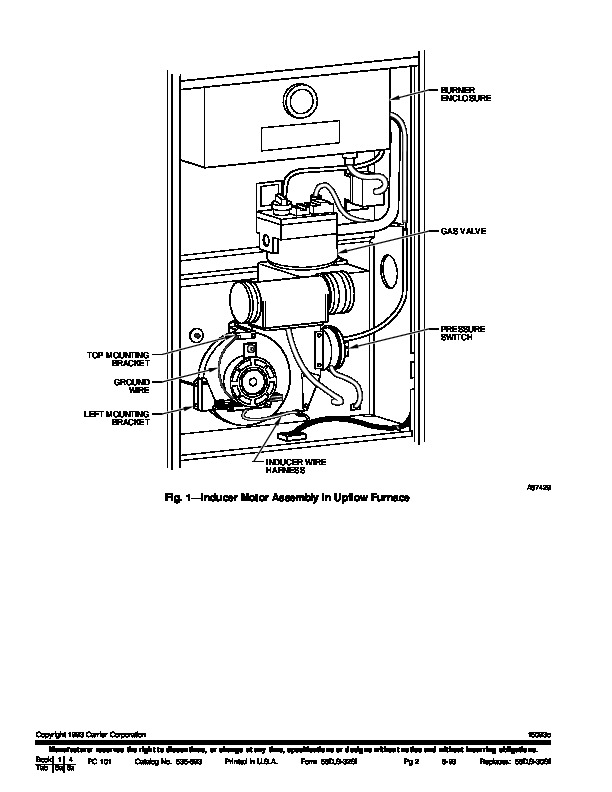 Carrier 58D 58S 32SI Gas Furnace Owners Manual