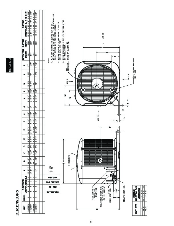 Carrier 24acr3c 1pd Heat Air Conditioner Manual