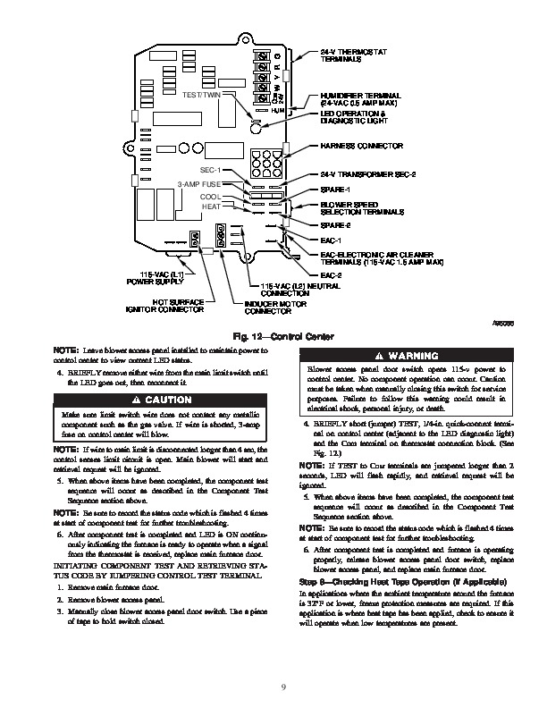 Carrier 58MCA 7SM Gas Furnace Owners Manual