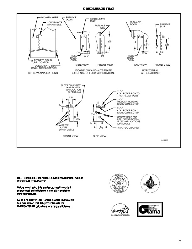 Carrier 58MCA 4PD Gas Furnace Owners Manual