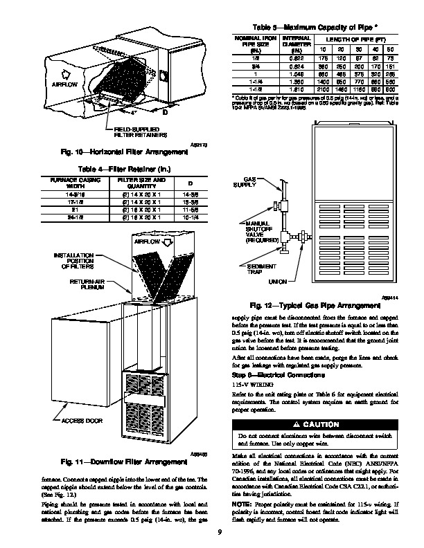Carrier 58ZAV 9SI Gas Furnace Owners Manual