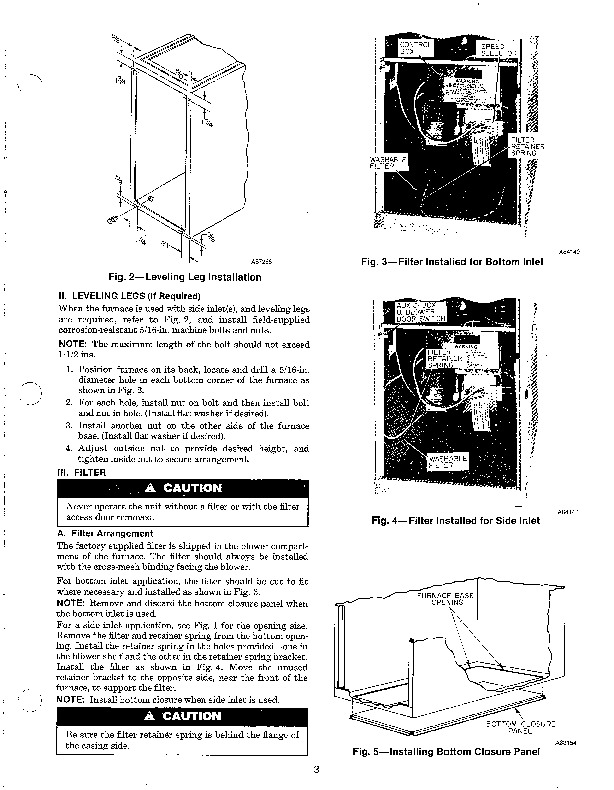 Carrier 58SXA 1SI Gas Furnace Owners Manual