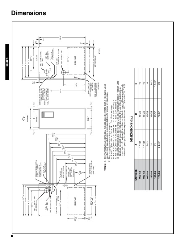 Carrier 58MTB 1PDREVA Gas Furnace Owners Manual