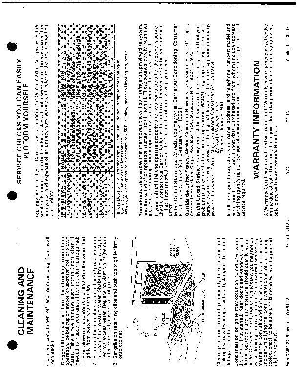 Carrier 51 87 Heat Air Conditioner Manual