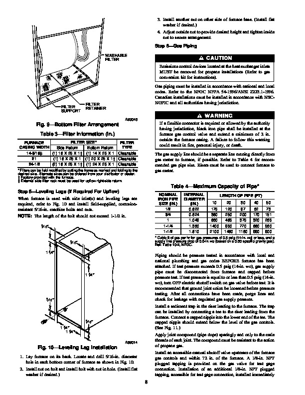 Carrier 58UHV 3SI Gas Furnace Owners Manual