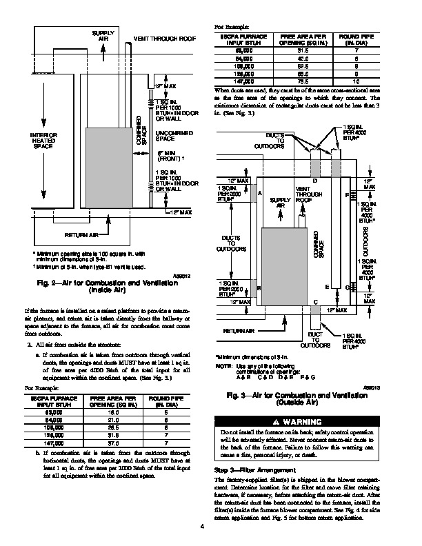 Carrier 58GF 4SI Gas Furnace Owners Manual