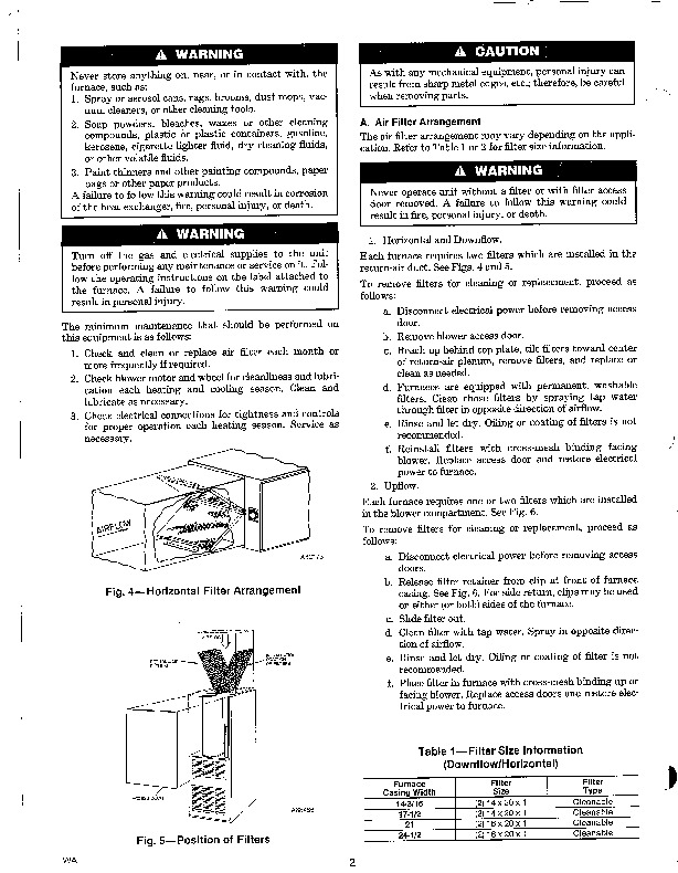 Carrier 58D 58S 3SM Gas Furnace Owners Manual