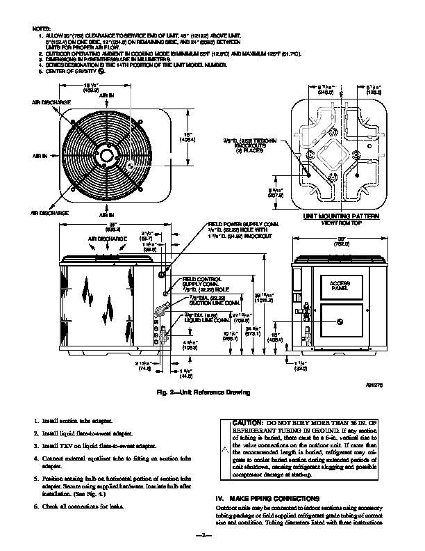 Carrier Bryant 598a 36 5 Heat Air Conditioner Manual