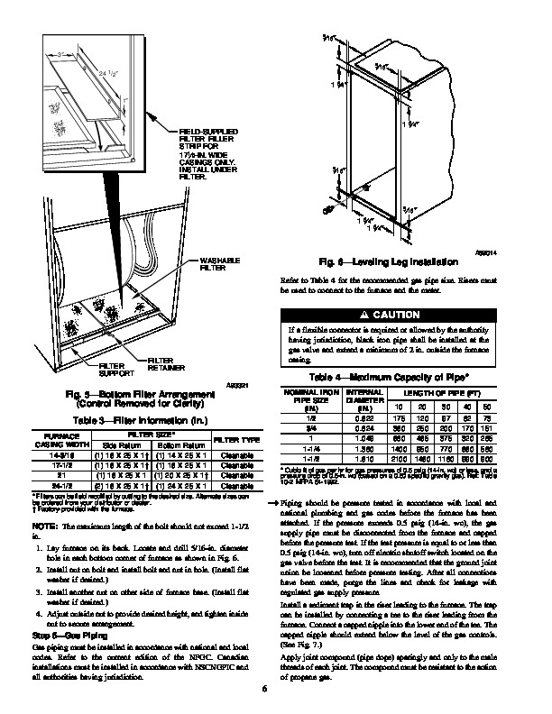 Carrier 58PA 12SI Gas Furnace Owners Manual