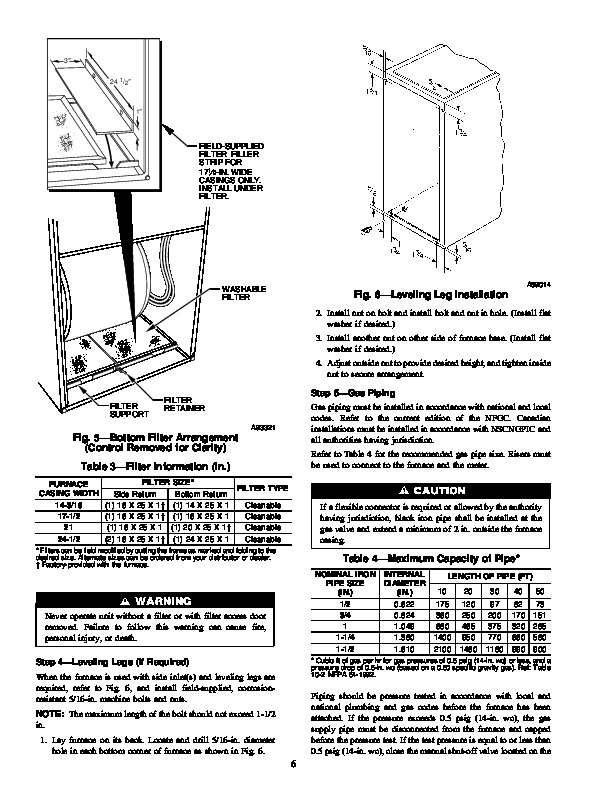 Carrier 58PA 9SI Gas Furnace Owners Manual