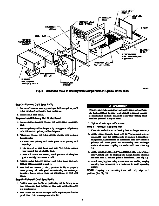 Carrier 58M 71SI Gas Furnace Owners Manual
