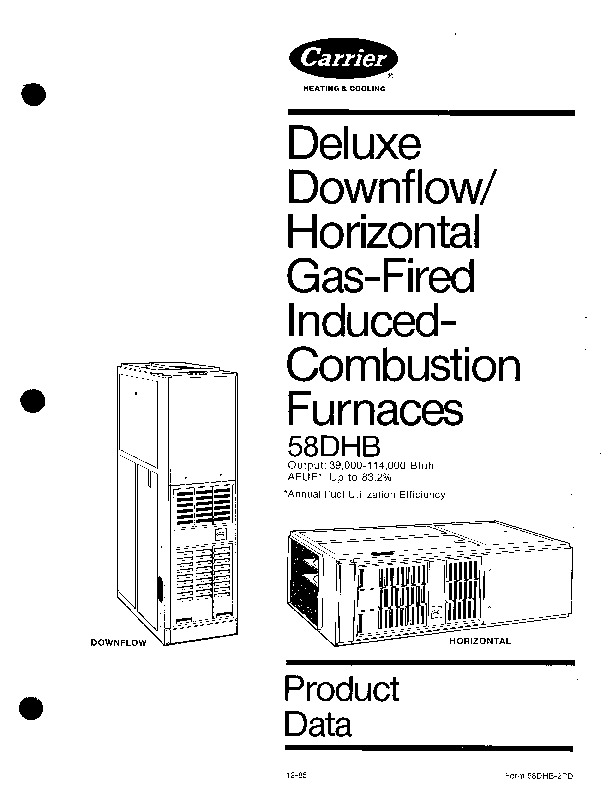 Carrier 58DHB 2PD Gas Furnace Owners Manual