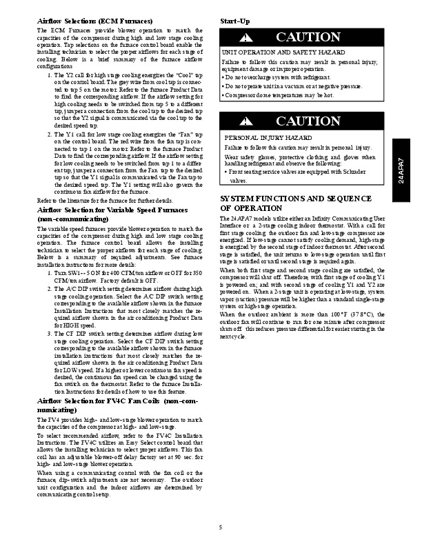 Carrier 24apa7 1si Heat Air Conditioner Manual