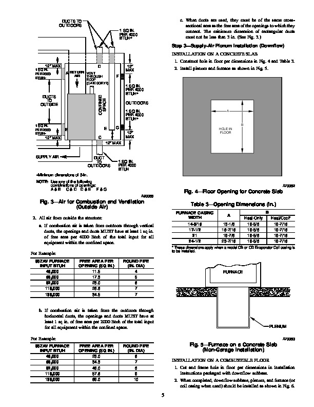 Carrier 58ZAV 8SI Gas Furnace Owners Manual