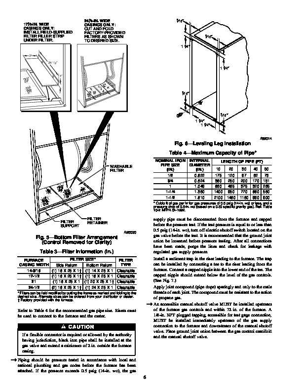 Carrier 58WAV 6SI Gas Furnace Owners Manual