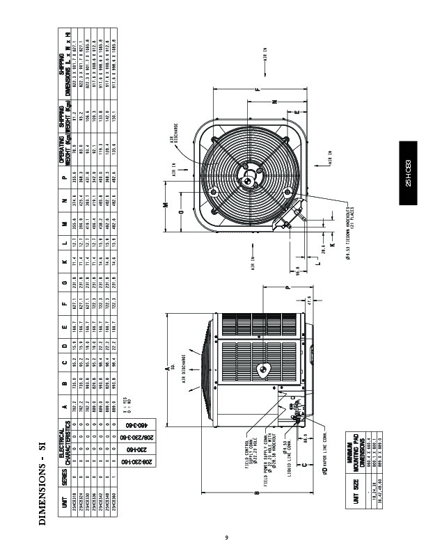 Carrier 25hcb3 4pd Heat Air Conditioner Manual