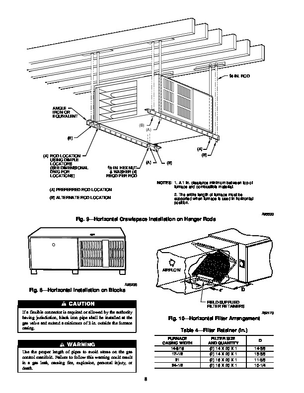 Carrier 58RA 13SI Gas Furnace Owners Manual