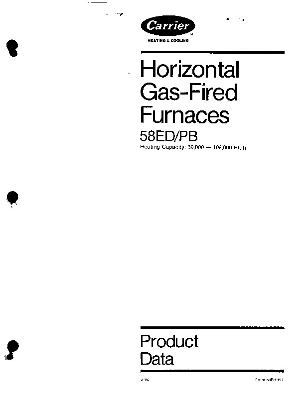 Carrier 58PB PD Gas Furnace Owners Manual