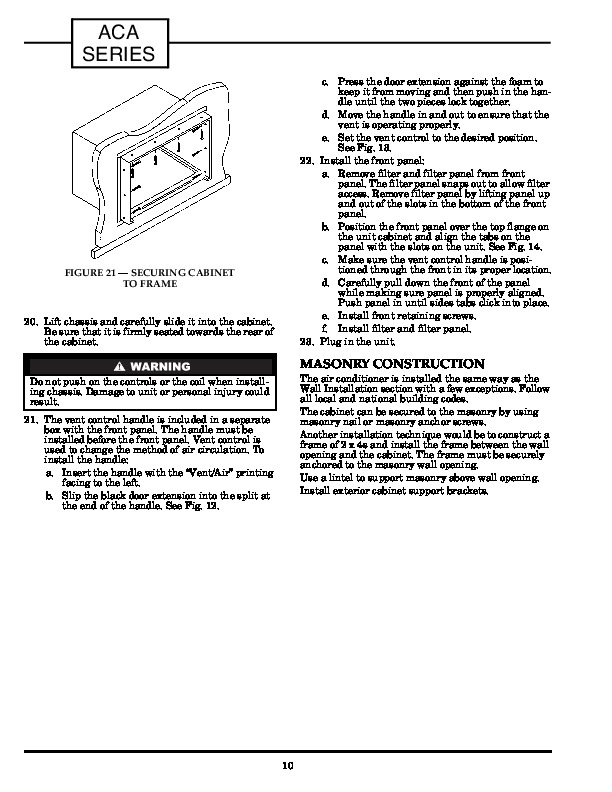 Carrier 73aca 2si Heat Air Conditioner Manual