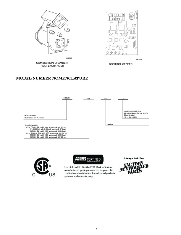 Carrier 58CMR 5PD Gas Furnace Owners Manual