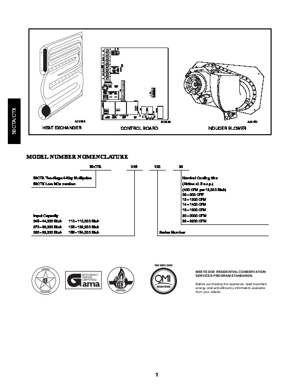 Carrier 58CTA 58CTX 6PD Gas Furnace Owners Manual