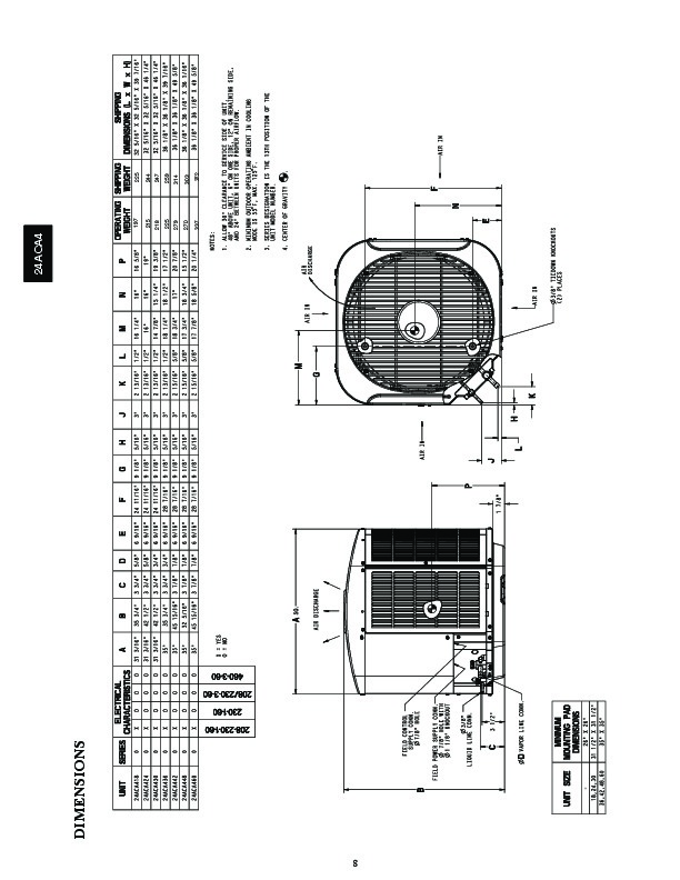 Carrier 24aca4 3pd Heat Air Conditioner Manual