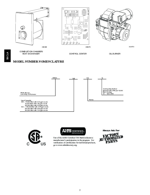 Carrier 58CLA 6PD Gas Furnace Owners Manual