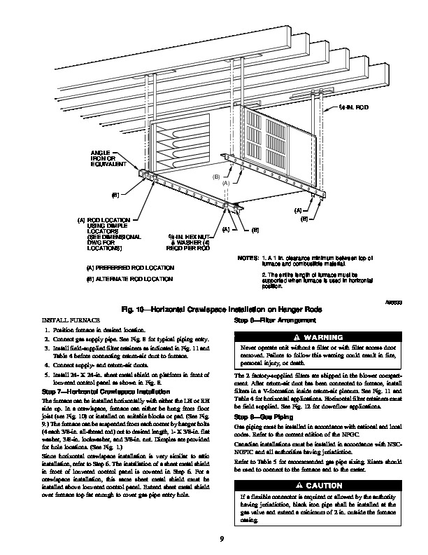 Carrier 58ZAV 10SI Gas Furnace Owners Manual