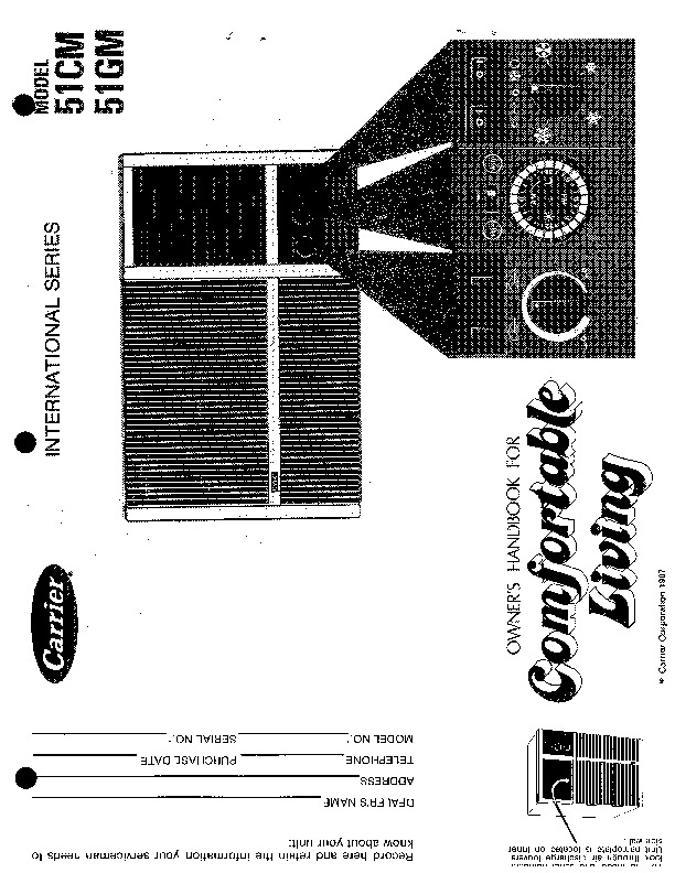 Carrier 51 115 Heat Air Conditioner Manual