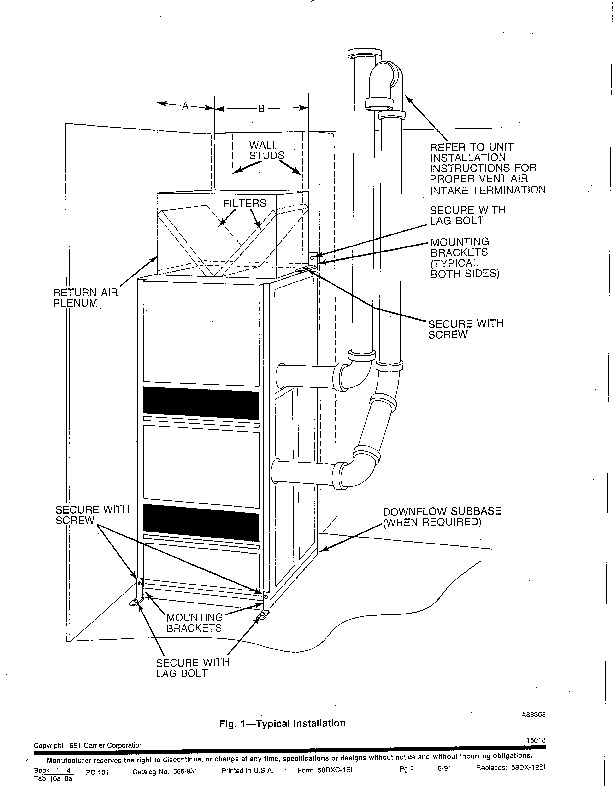 Carrier 58DXC 1SI Gas Furnace Owners Manual