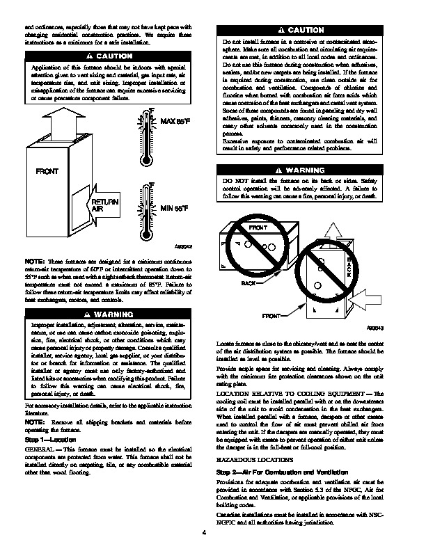 Carrier 58PA 16SI Gas Furnace Owners Manual