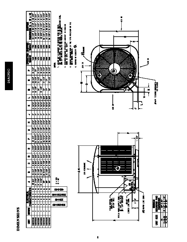 Carrier 24acr3c 3pd Heat Air Conditioner Manual