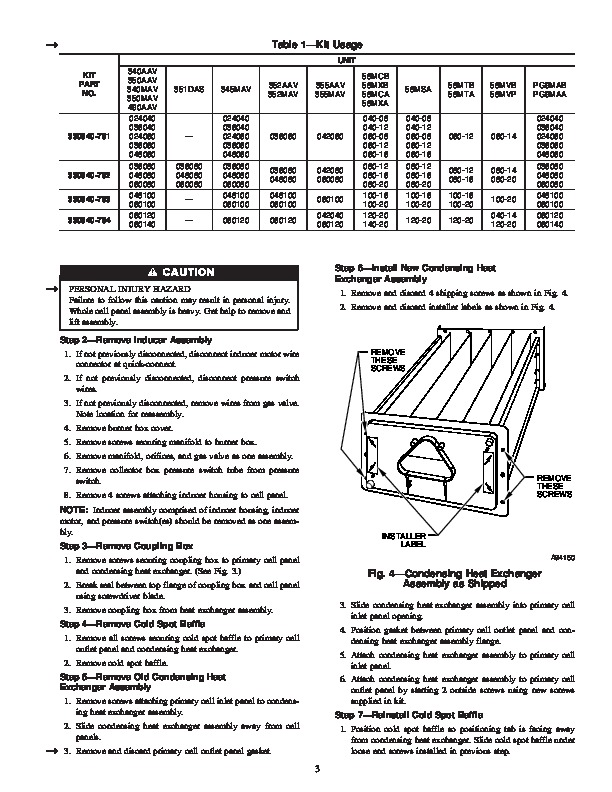 Carrier 58M 99SI Gas Furnace Owners Manual