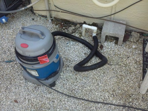 small resolution of when choosing a wet vacuum to clean your ac drain keep in mind that the horse power rating is more important than the gallon capacity