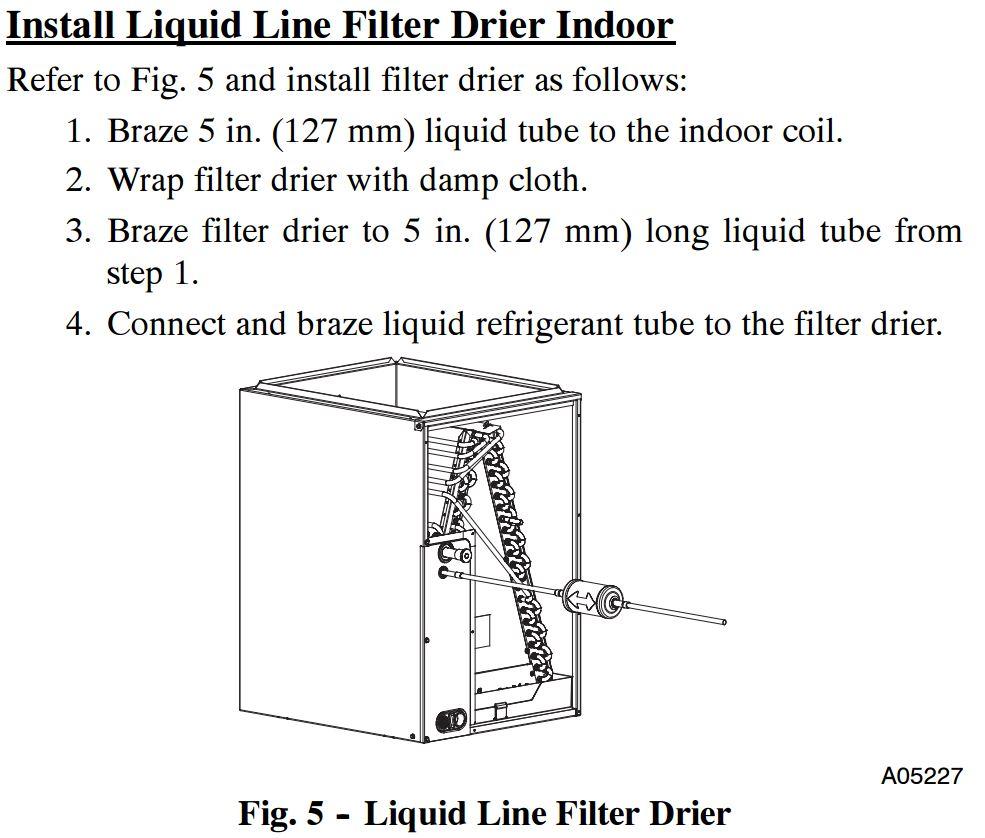 Proper Liquid Line Drier Location Hvac School Wiring Diagram Air Pressor Superheat And Above By Carrier