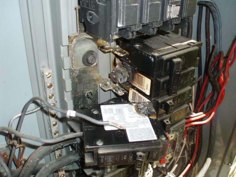 The Tripped Circuit Breaker Inside The Main Electrical Access Panel