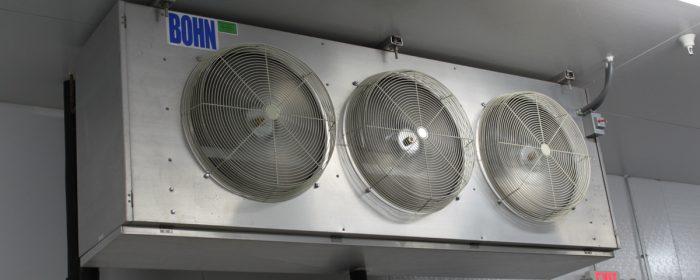 Td of refrigeration evaporators hvac school for Walk in cooler fan motor