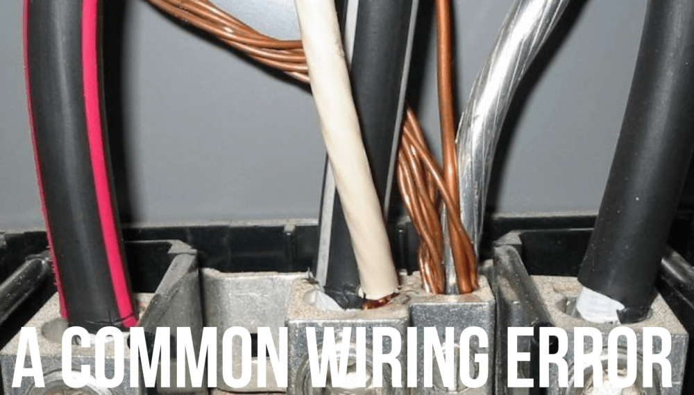 medium resolution of connecting more than one wire on or under a single lug or connection point is called double lugging and it is only allowed in line voltage wiring under
