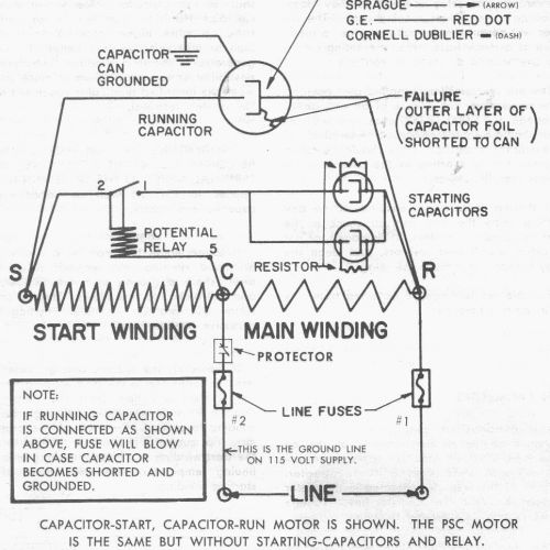 Copeland Potential Relay Wiring Diagram Run Capicator For - Wiring on