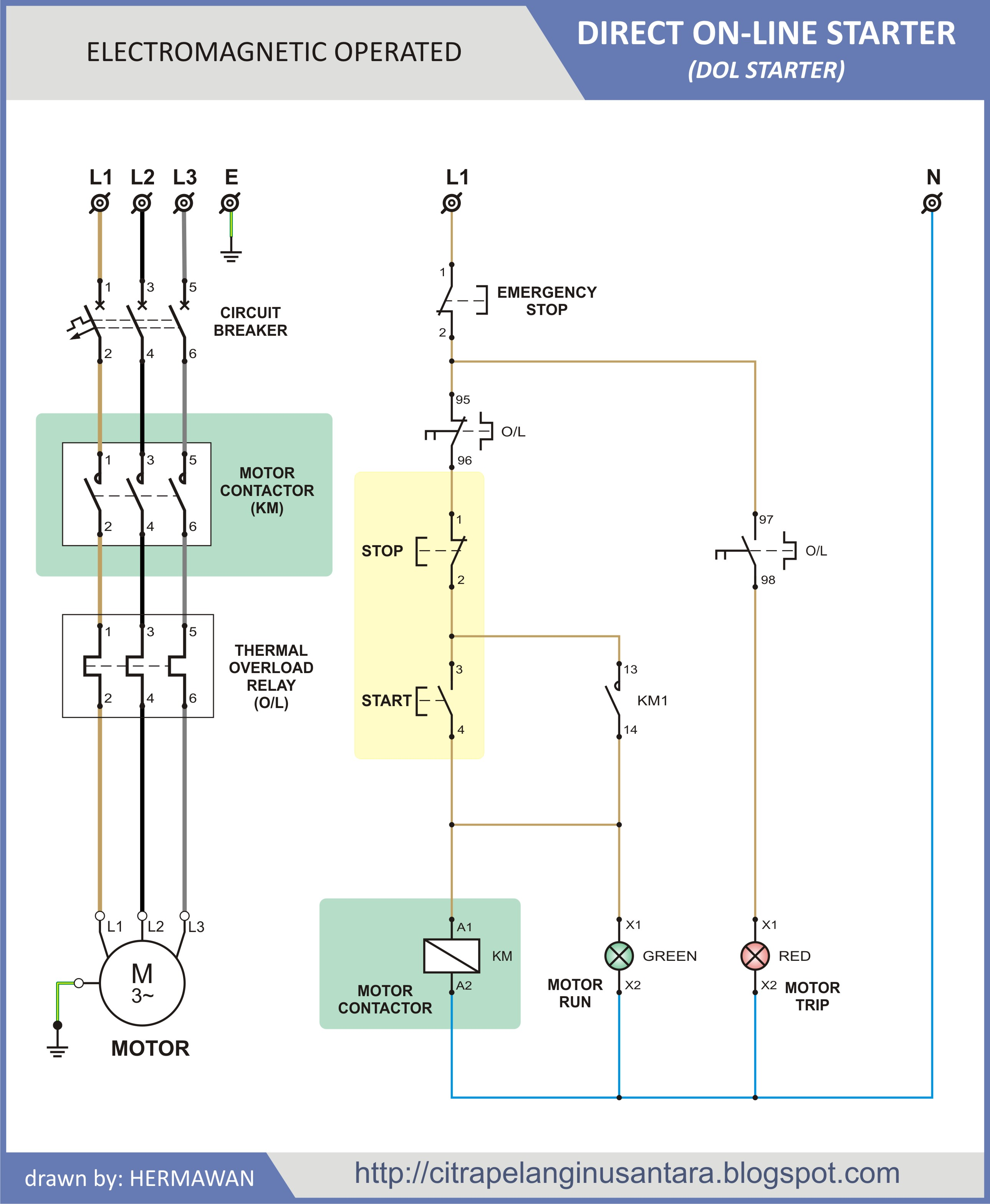3 phase dol wiring diagram 1984 ford f150 starter solenoid solid state relay operated 351kb