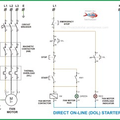 Single Phase Reversing Contactor Wiring Diagram Water Well Schematic Dol Starter | Hermawan's Blog (refrigeration And Air Conditioning Systems)